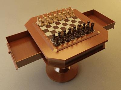 chess set table max