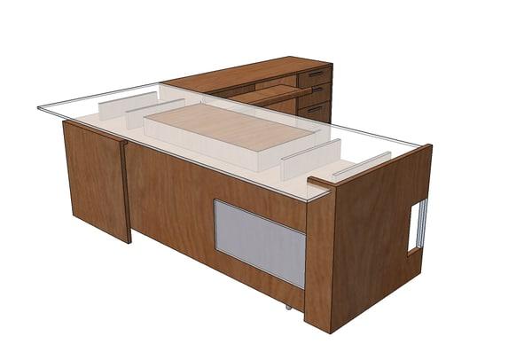 3ds max executive desk