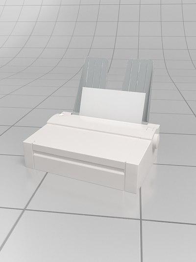 3d model matrix printer