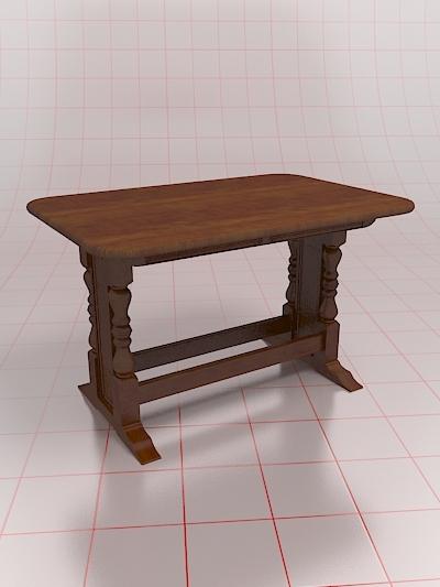 pub table 3d model