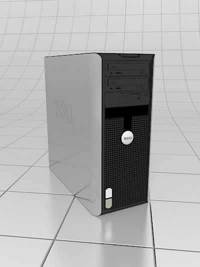 3d model desktop dell