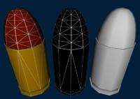 3d 9mm bullet model