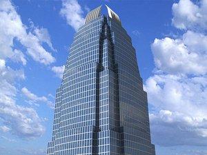 3d international finance centre skyscrapers model