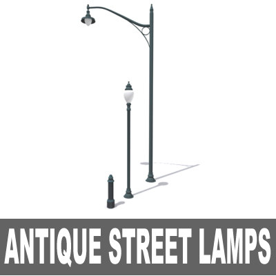 3d antique lamps