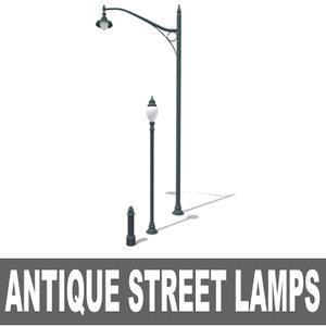3d antique lamps