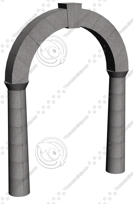 stone archway 3d dxf
