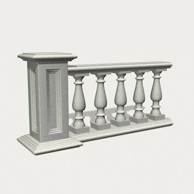 3d model balustrade column