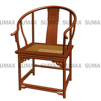 ming dynasty armchair wood chair 3d model