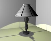 3d black white table model