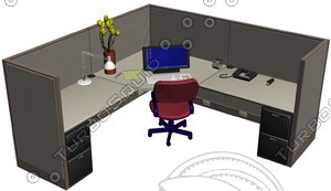 cubicle office desk max