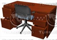 3d model wood desk