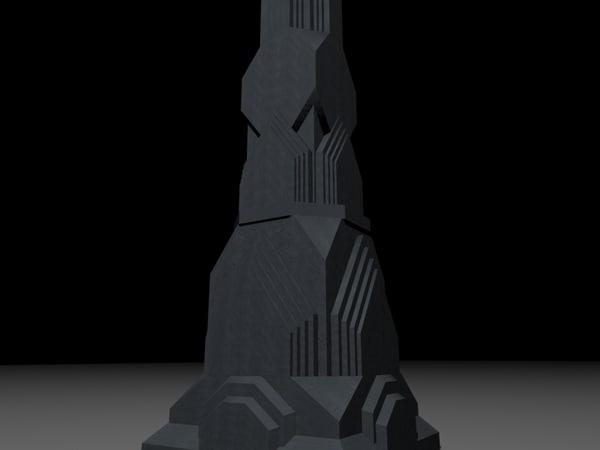 pillar dwarrowdelf 3d model