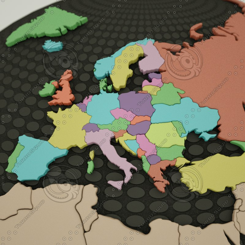 europe countries mediterranean 3d model