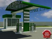 c4d gas station v4