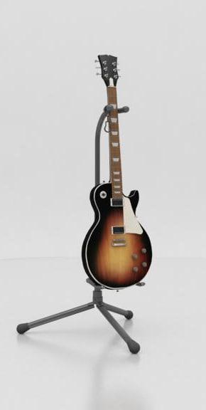 3d stand guitar