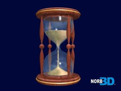 free hourglass 3d model