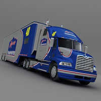 race car transporter 3d model