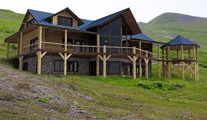 3d model log home