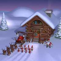 3d model christmas big pack
