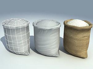 3d rice sack model
