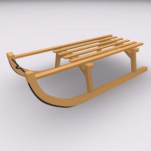 sleigh 3d model