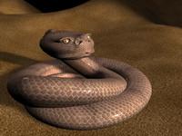 snake desert 3d max