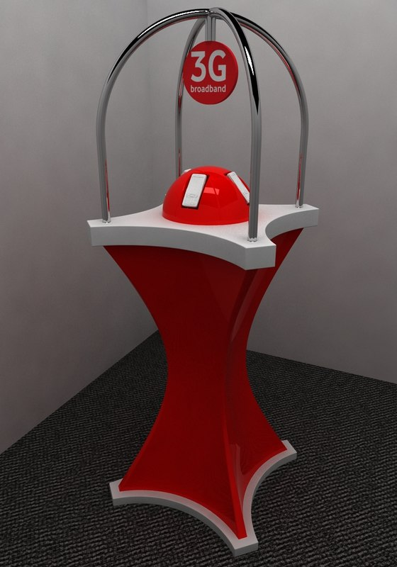 3d model mobile phone stand