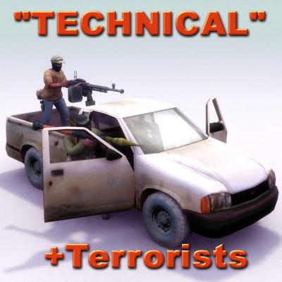 3d pickup technical terrorist model