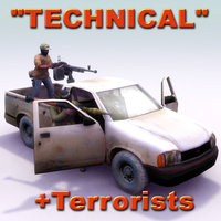 3d pickup technical terrorist model