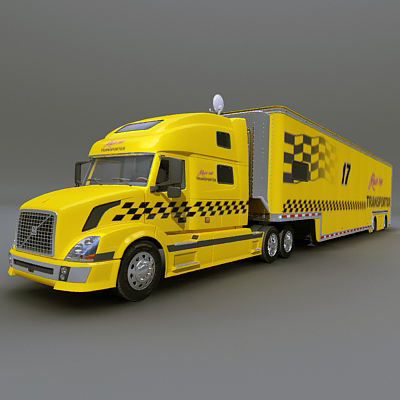 3ds race car transporter