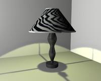 lamp black white 3ds