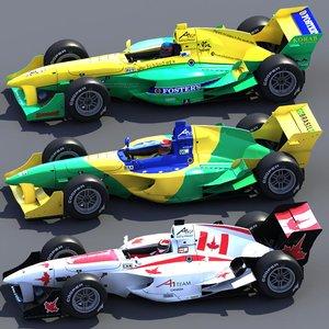 a1gp car racing 3d max