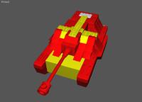 lego tank 3d lwo