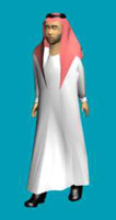 arabian man arabic character 3d model