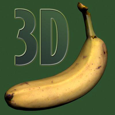banana ripe 3d max