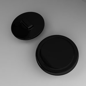 button 3d lwo