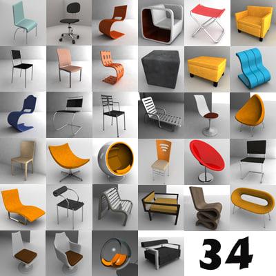 modern chairs x