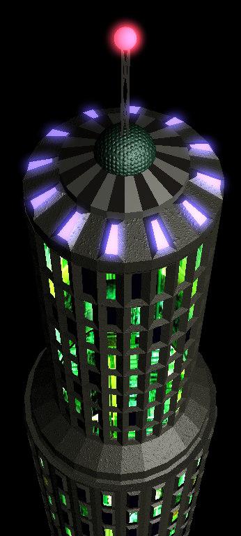 circular skyscraper 3d lwo