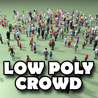 3d model of human crowd