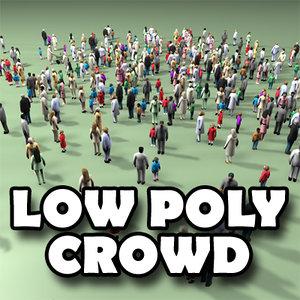 3d model of human crowd