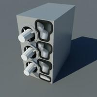 3d model cup dispenser