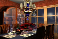 3d model dinning room