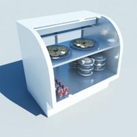 display fridge 3d max