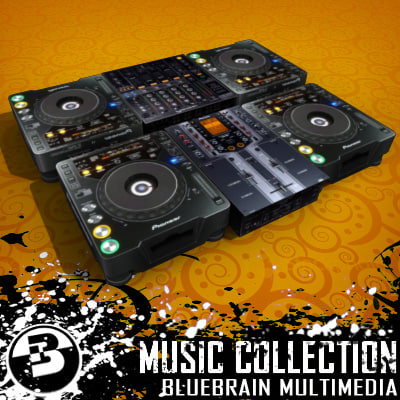 3d set dj gear model