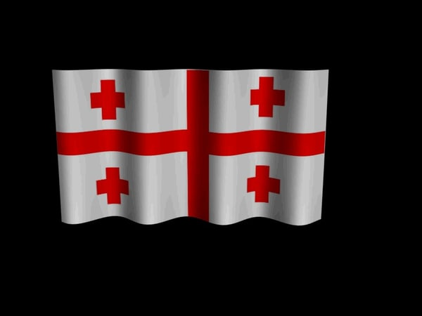 georgian flag 3d model