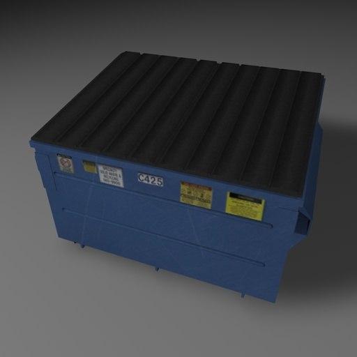 dumpster trashcans container 3d model