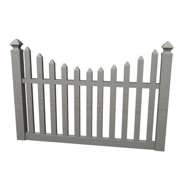 Fence 3d model for 3d fence