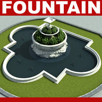 3d fountain modelled model