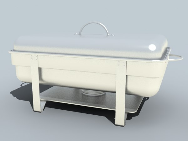 chafing dish 3d model