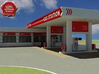 gas station v3 3d max